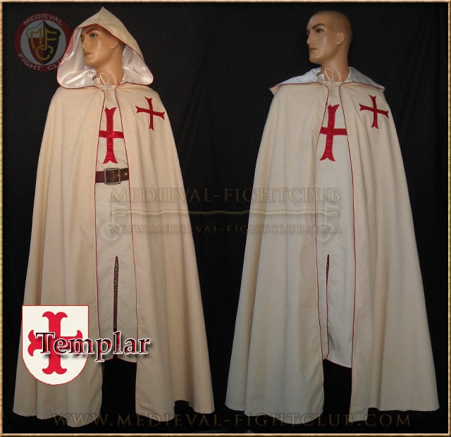 sc 1 st  Medieval Fight Club & Medieval Crusader Costume Templar Knights - Tunic and Cloak