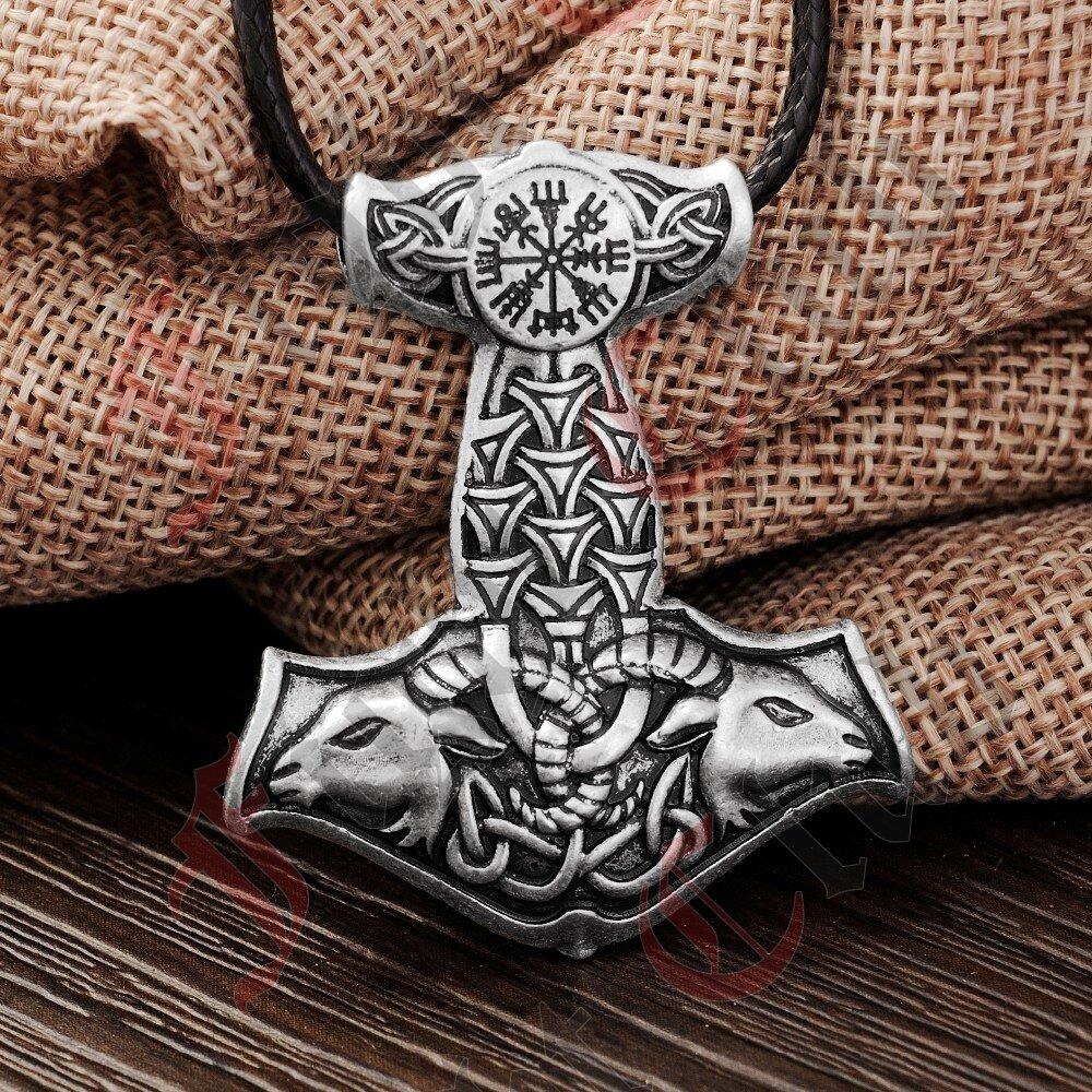 Thors mjolnir pendant goat aloadofball Images