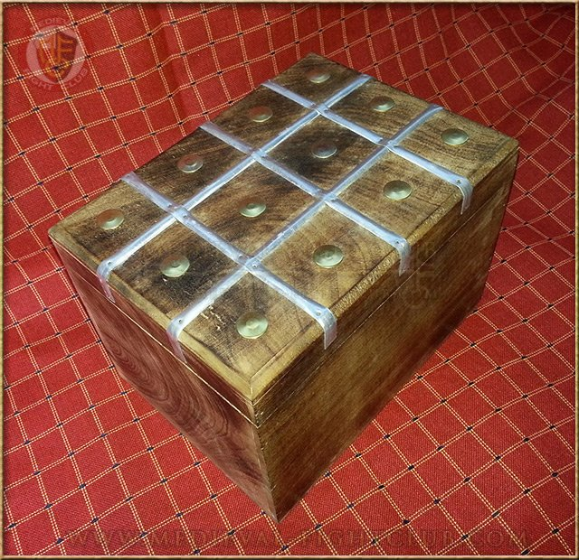 Large medieval chest - storage box wooden
