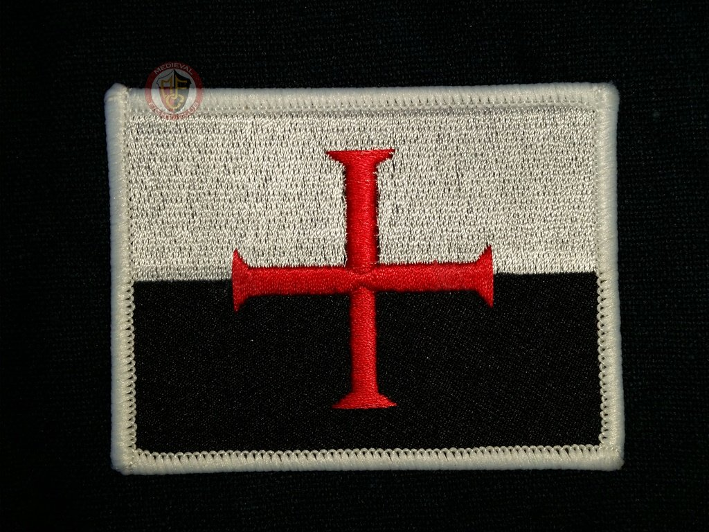 Stylish Knights Templar cloth patch