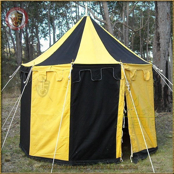 Medieval Striped Pavilion Tent For Re Enactment