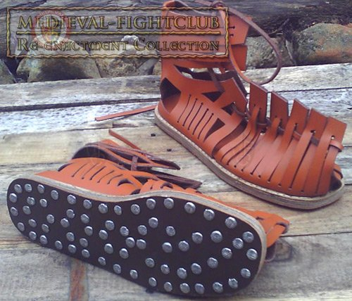 Ancient Roman Caligae Sandals With Hobnails