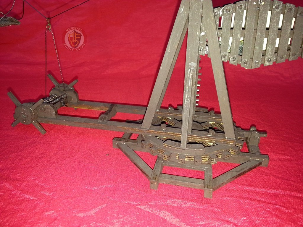 Model Mangonel Trebuchet With Rotating Base 172nd Scale In Wood Onager Diagram How To Build A Save 30