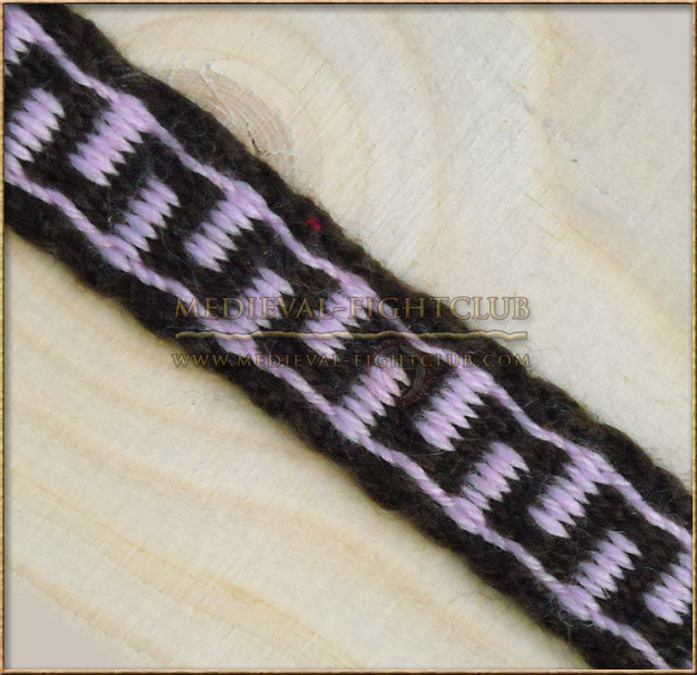 Braid Brown and Pink 1.8cm x 45cm