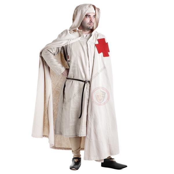 Templar Cloak with red cross