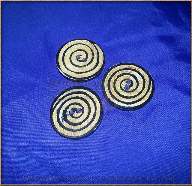 Pagan energy symbol hand made horn button