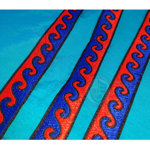 20mm Blue & Red wave pattern braid