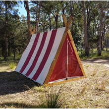 Red and White Viking A-Frame Tent
