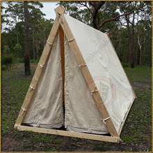 Aframe tent with closed entrance