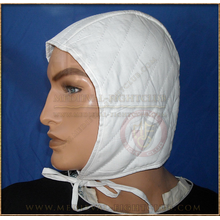 Quilted Arming Cap with Tie