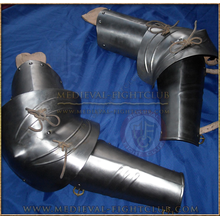 Gothic fluted elbow and arm guards