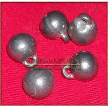 Pewter ball buttons