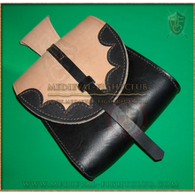 Two Tone Scalloped Pouch