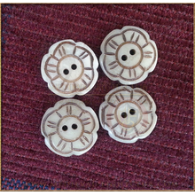 Cinquefoil hand made horn button