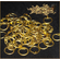 Brass round riveted mail rings x 100